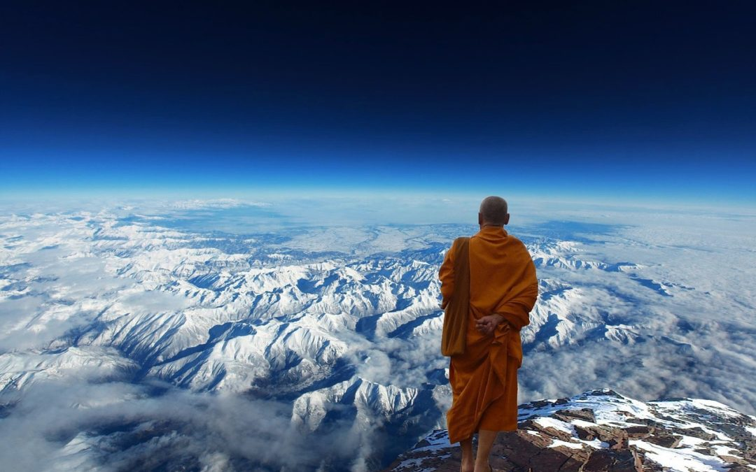 The Monk who came gliding through the window