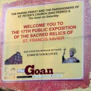 St. Francis Xavier Exposition - Goa