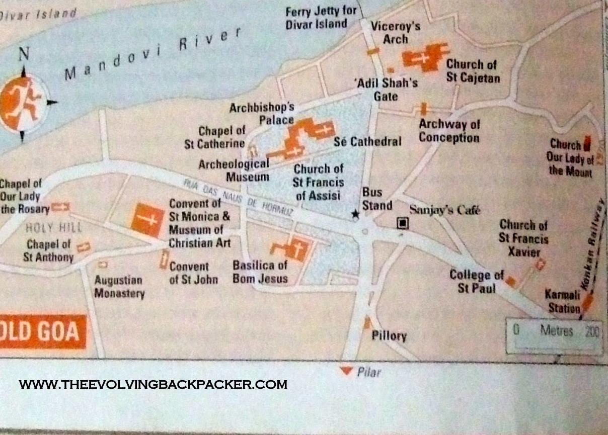 Old Goa Map